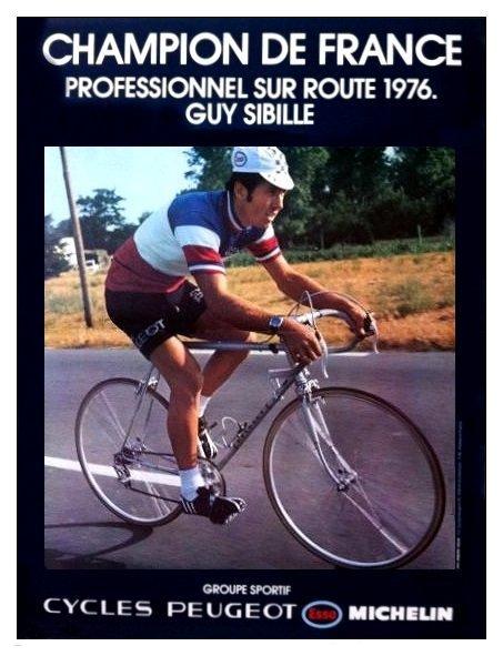 Affiche cycles peugeot 1976